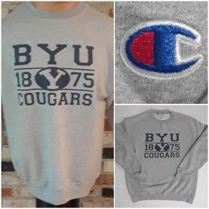 Vtg 90's Champion Men's BYU Crewneck Sweatshirt